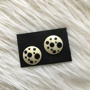 '80s / Dalmatian Earrings